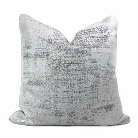 Cerruto Modern White Gray Tonal Pillow Cover - Aloriam