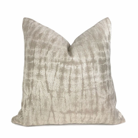 Claudel Two Tone Flax Beige Abstract Pillow Cover - Aloriam