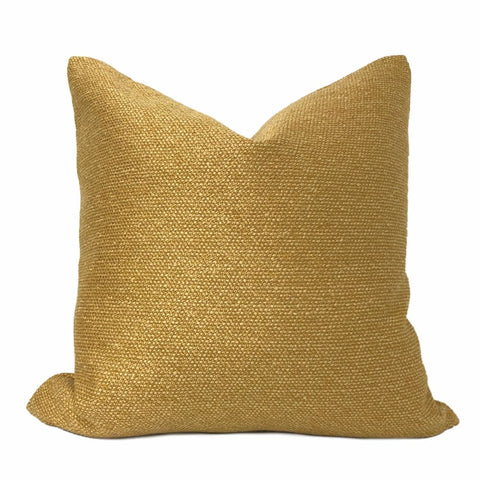 Curtis Gold Basketweave Texture Pillow Cover - Aloriam