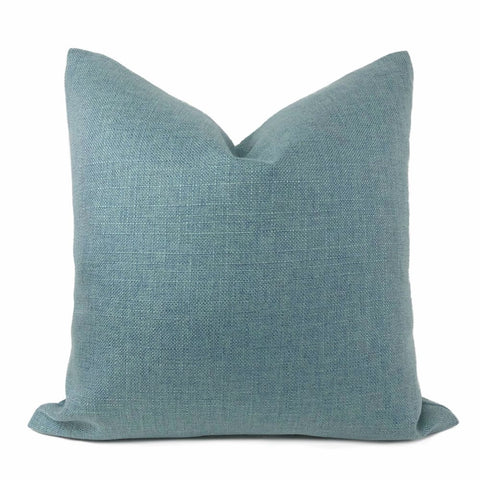 Curzon Mineral Blue Basketweave Pillow Cover - Aloriam