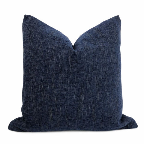 Dalton Dark Blue Tan Tweed Pillow Cover - Aloriam