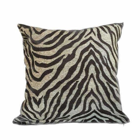 Dark Brown Beige Tiger Animal Stripe Chenille Pillow Cushion Cover Cushion Pillow Case Euro Sham 16x16 18x18 20x20 22x22 24x24 26x26 28x28 Lumbar Pillow 12x18 12x20 12x24 14x20 16x26 by Aloriam