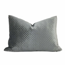 Dark Gray Dimple Dots Velvet Pillow Cover