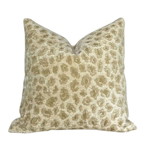 """Designer Two Tone Golden Sand Beige Leopard Cheetah Animal Spots Pillow Cover, Fits 16"""" 18"""" 20"""" 22"""" 24"""" Cushion Inserts"""