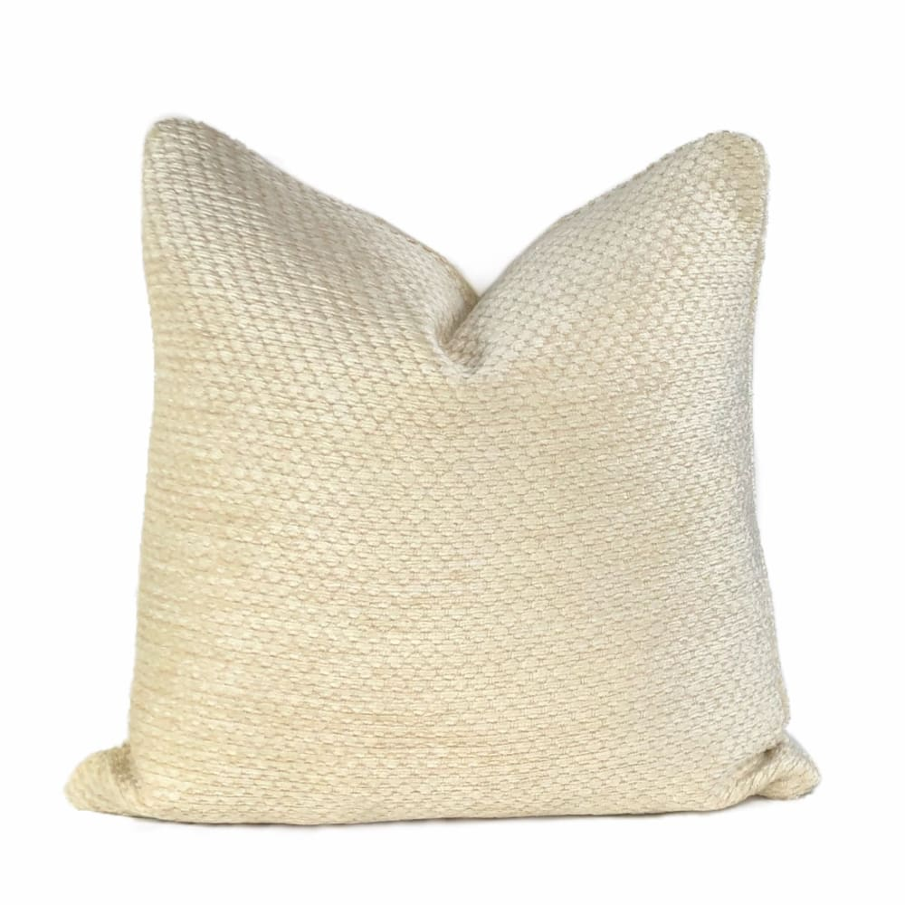 Dorchester Hobnail Texture Buttercream Chenille Pillow Cover - Aloriam