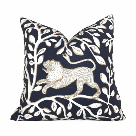 Dwell Studio Pantheon Navy Blue White Pillow Cushion Cover Cushion Pillow Case Euro Sham 16x16 18x18 20x20 22x22 24x24 26x26 28x28 Lumbar Pillow 12x18 12x20 12x24 14x20 16x26 by Aloriam