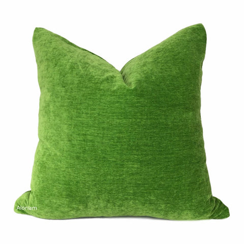 Dynasty Envy Green Chenille Velvet Pillow Cover - Aloriam