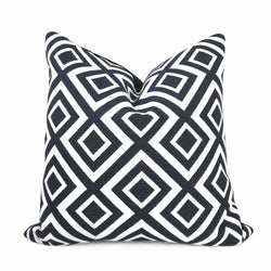 Forsyth Black and White Geometric Lattice Pillow Cover Cushion Pillow Cover