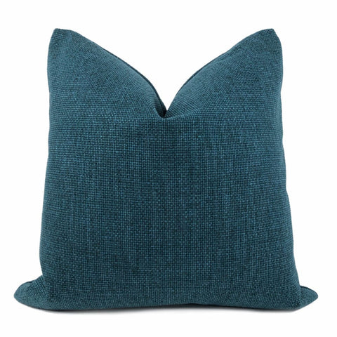 Frazier Teal Green Basketweave Pillow Cover - Aloriam