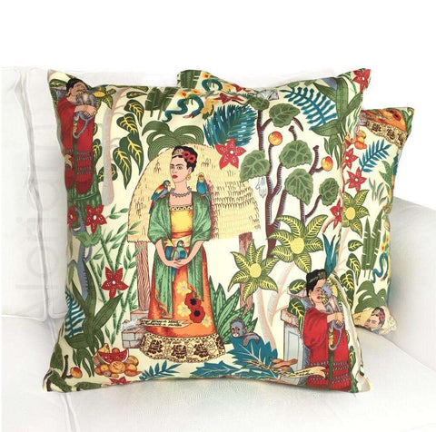 Frida Kahlo Mexican art pillow cover by Aloriam