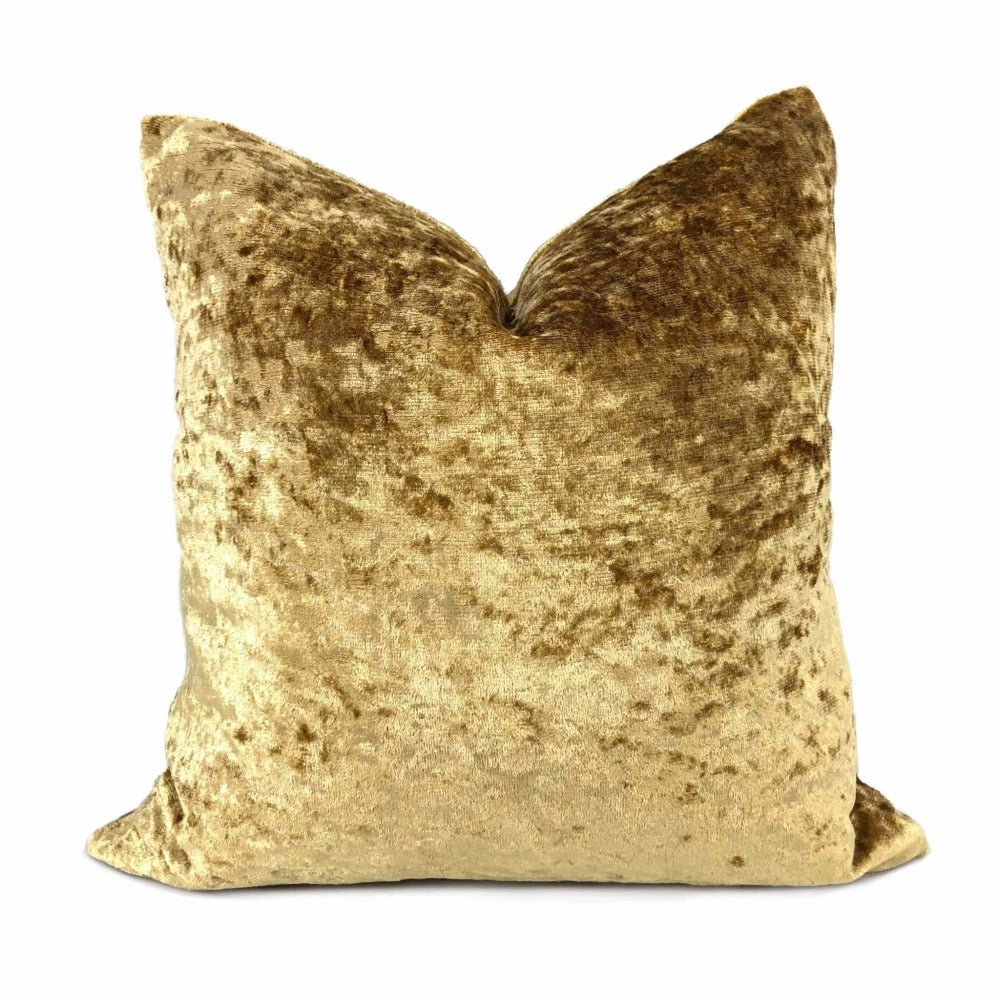 Gold Crushed Velvet Pillow Cover