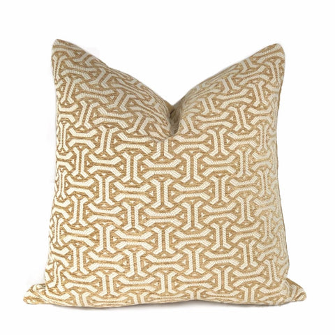 Gramercy Golden Barley & Cream Geometric Pillow Cover - Aloriam