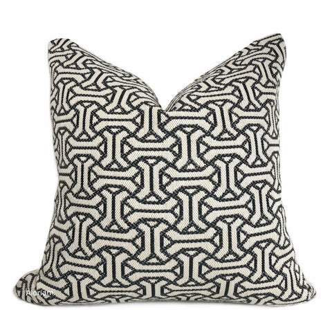 Gramercy II Black Cream Geometric Pillow Cover - Aloriam