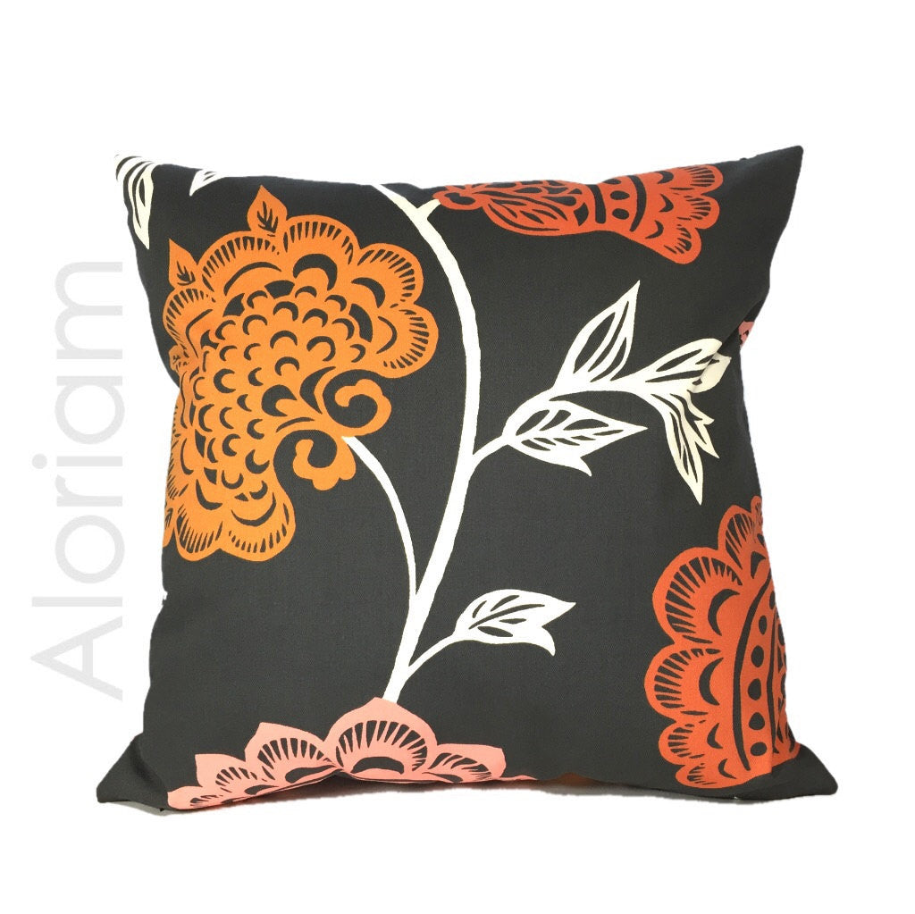 Thomas Paul Garden Court Floral Pillow Cover by Aloriam
