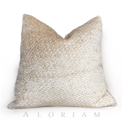 Vanilla Cream Texture Chenille Pillow Cushion Cover