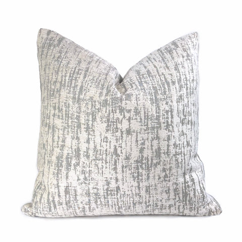 Cameron Gray Cream Chenille Texture Pillow Cover