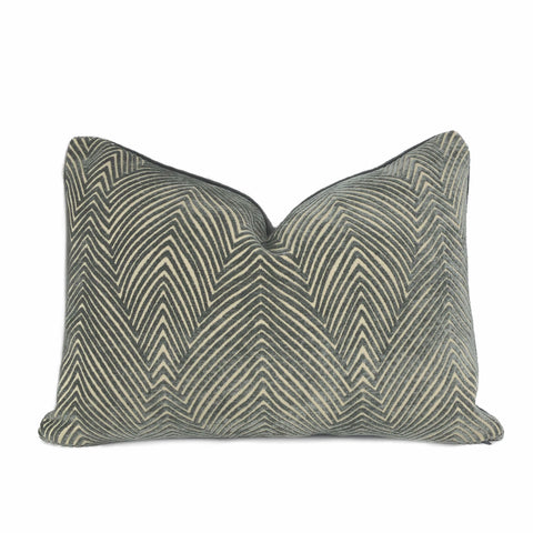 Chrysler Art Deco Smoke Gray Textured Pillow Cover