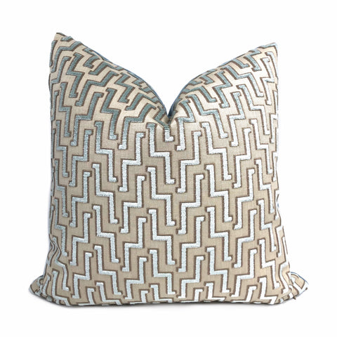 Zeus Ice Blue Lighting Bolt Cut Velvet Pillow Cover