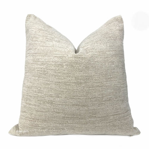 Irving Oatmeal Chenille Pillow Cover - Aloriam