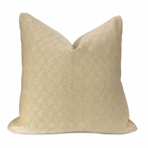 Jentry Sand Abstract Wavy Lines Pillow Cover (Kravet Candice Olson fabric) - Aloriam