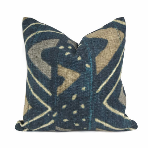 Jula African Tribal Mali Mudcloth Cotton Print Pillow Cover - Aloriam