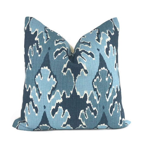 Kelly Wearstler Bengal Bazaar Teal Blue Linen Pillow Cover Cushion Pillow Case Euro Sham 16x16 18x18 20x20 22x22 24x24 26x26 28x28 Lumbar Pillow 12x18 12x20 12x24 14x20 16x26 by Aloriam