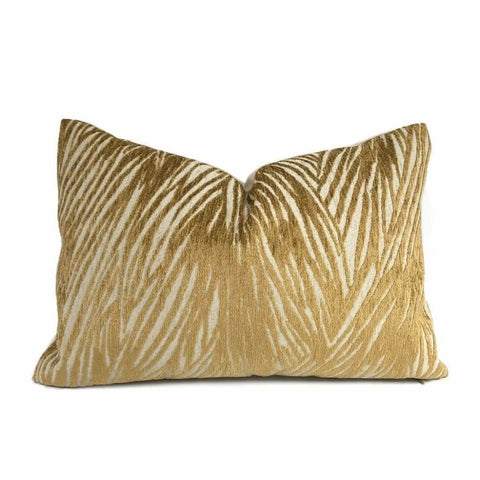 Keralon Golden Amber Modern Abstract Texture Chenille Pillow Cover Cushion Pillow Case Euro Sham 16x16 18x18 20x20 22x22 24x24 26x26 28x28 Lumbar Pillow 12x18 12x20 12x24 14x20 16x26 by Aloriam