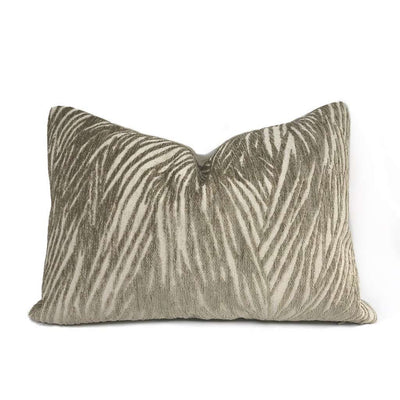 Keralon Taupe Beige Modern Abstract Texture Chenille Pillow Cover Cushion Pillow Case Euro Sham 16x16 18x18 20x20 22x22 24x24 26x26 28x28 Lumbar Pillow 12x18 12x20 12x24 14x20 16x26 by Aloriam