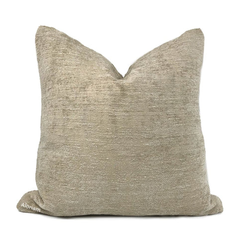 Knox Sandstone Slub Textured Chenille Pillow Cover - Aloriam