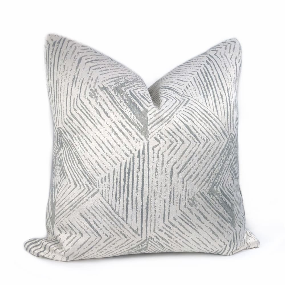 Kori Geometric Etchings Gray Off-White Pillow Cover - Aloriam