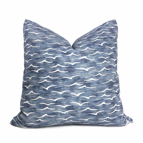 Kravet Angelus Pacific Blue Seagulls on Water Pillow Cover - Aloriam