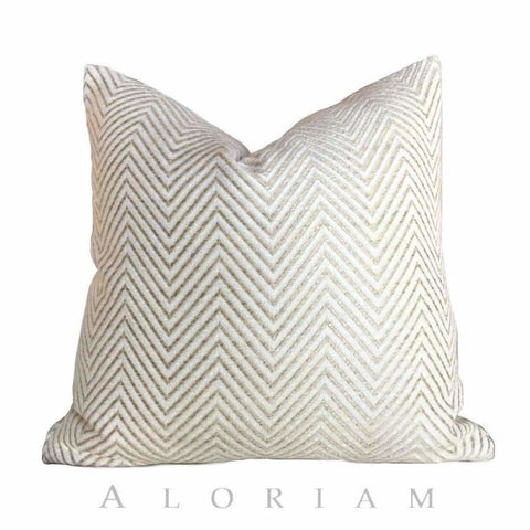 Kravet Candice Olson Entrigued Ginger & Cream Herringbone Pillow Cover - Aloriam