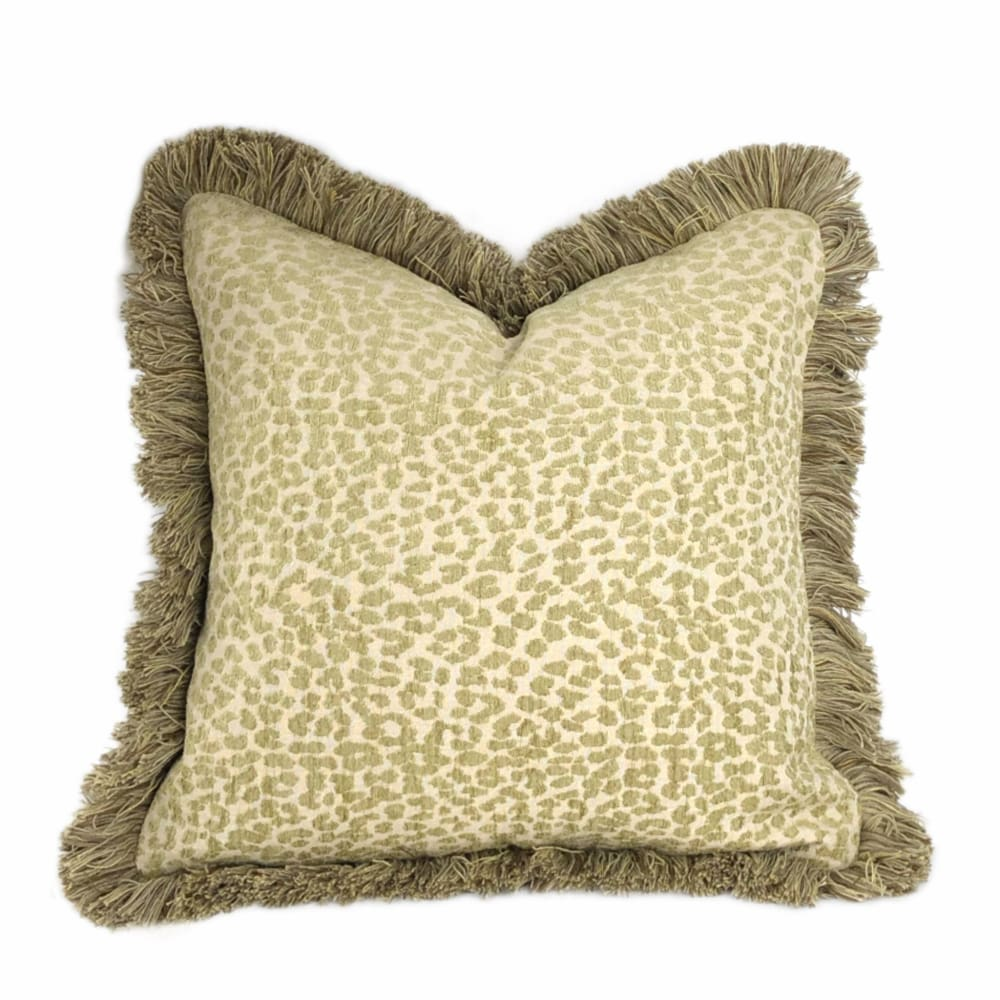 Kravet Candice Olson Tetouan Leopard Cheetah Animal Spots Spring Green Pillow Cushion - Aloriam