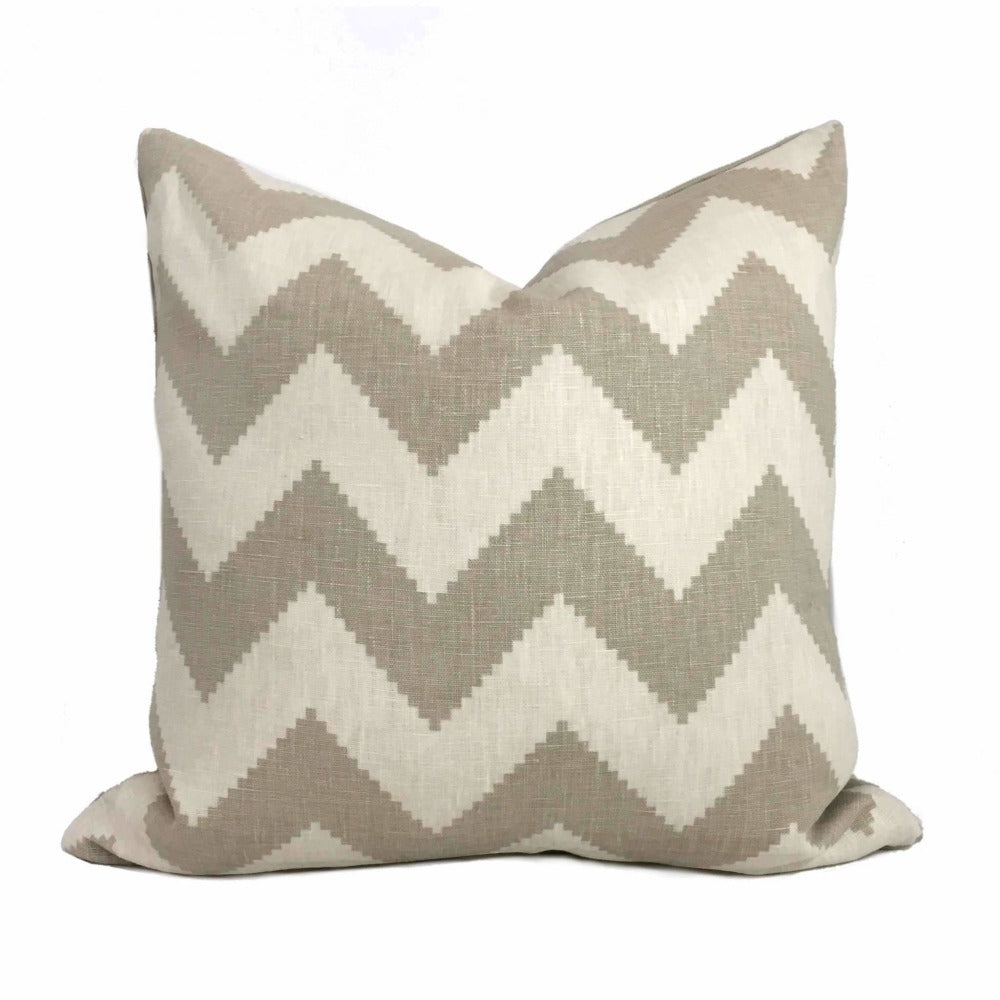 Kravet Jonathan Adler Limitless Pebble Beige Cream Chevron Stripe Pillow Cover Apps  Save Products/Kravet Jonathan Adler Limitless Pebble Beige Cream Chevron Stripe Pillow Cover by Aloriam