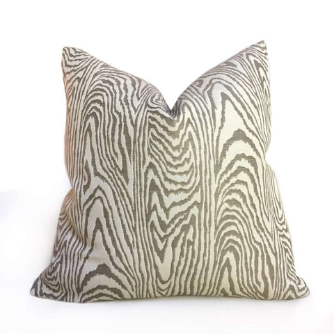 Kravet Lawrence Taupe Brown Beige Faux Bois Wood Grain Pillow Cover Cushion Pillow Case Euro Sham 16x16 18x18 20x20 22x22 24x24 26x26 28x28 Lumbar Pillow 12x18 12x20 12x24 14x20 16x26 by Aloriam