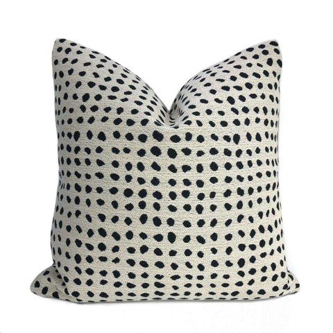 Lenox Black & Cream Spotted Pillow Cover