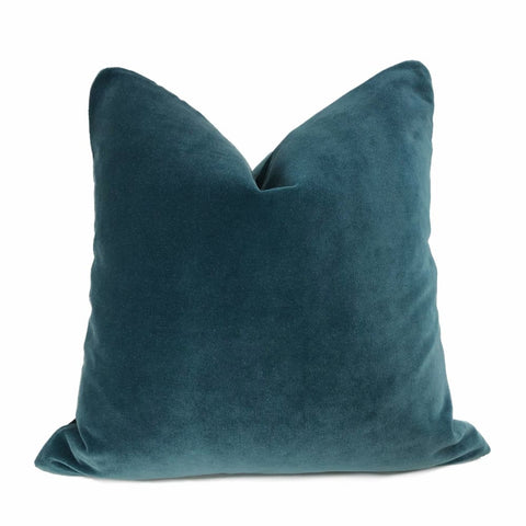Lexington Blue Teal Velvet Pillow Cover - Aloriam