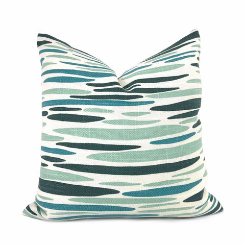 Lulu DK Island Sea Green Aqua Teal Pillow Cover Cushion Pillow Case Euro Sham 16x16 18x18 20x20 22x22 24x24 26x26 28x28 Lumbar Pillow 12x18 12x20 12x24 14x20 16x26 by Aloriam