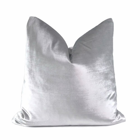Lumiere Solid Silver Velvet Pillow Cover - Aloriam