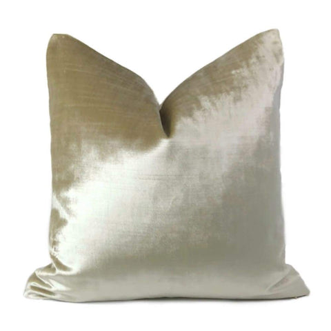 Lumos Oyster Creamy Light Beige Pillow Cover - Aloriam