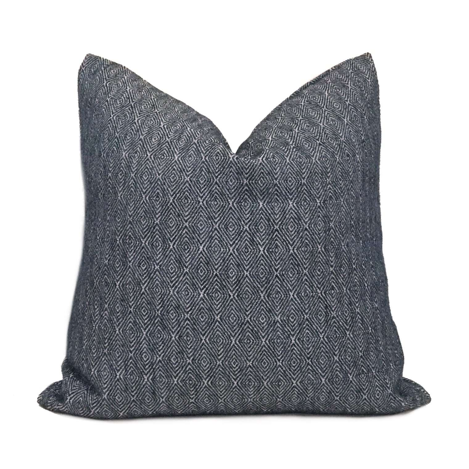 Medium Blue Diamond Tile Geometric Pillow Cover Cushion Pillow Case Euro Sham 16x16 18x18 20x20 22x22 24x24 26x26 28x28 Lumbar Pillow 12x18 12x20 12x24 14x20 16x26 by Aloriam
