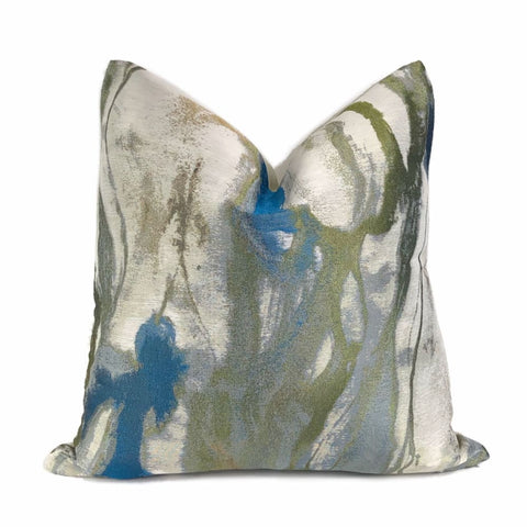 Miravel Azure Blue Abstract Pillow Cover - Aloriam