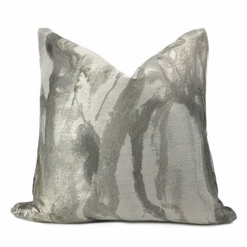 Miravel Oyster Gray Taupe Abstract Pillow Cover - Aloriam