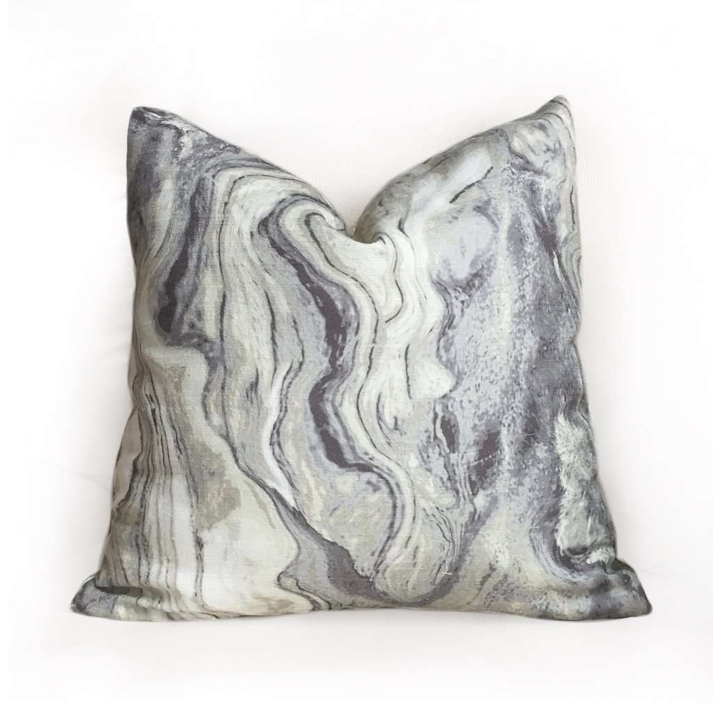 Modern Abstract Geology Gray Cream Pillow Cover by Aloriam