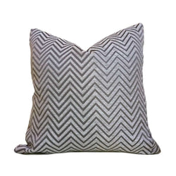 Modern Geometric Light Gray Dark Gray Chevron Zig Zag Upholstery Pillow Cover