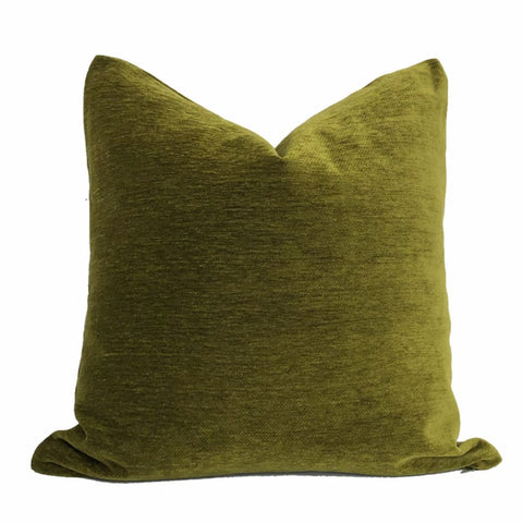 Moss Green Chenille Pillow Cover - Aloriam