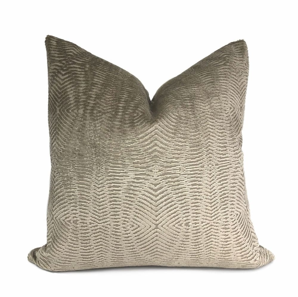 Narcisco Taupe Brown Chenille Texture Pillow Cover - Aloriam