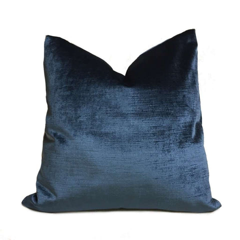 Navy Blue Robert Allen Luxury Savoy Velvet Pillow Cover Cushion Pillow Case Euro Sham 16x16 18x18 20x20 22x22 24x24 26x26 28x28 Lumbar Pillow 12x18 12x20 12x24 14x20 16x26 by Aloriam