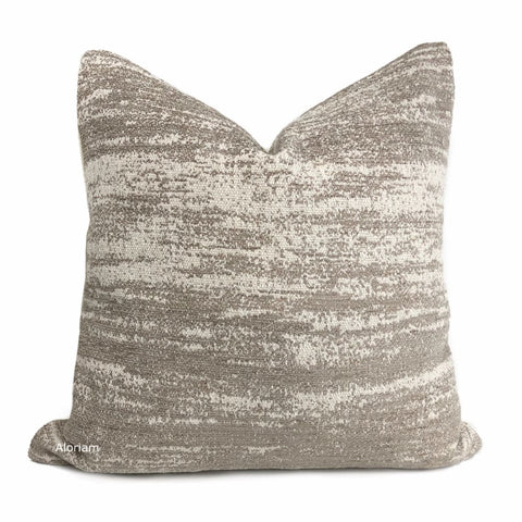 Newport Sandstone Cream Abstract Texture Pillow Cover - Aloriam