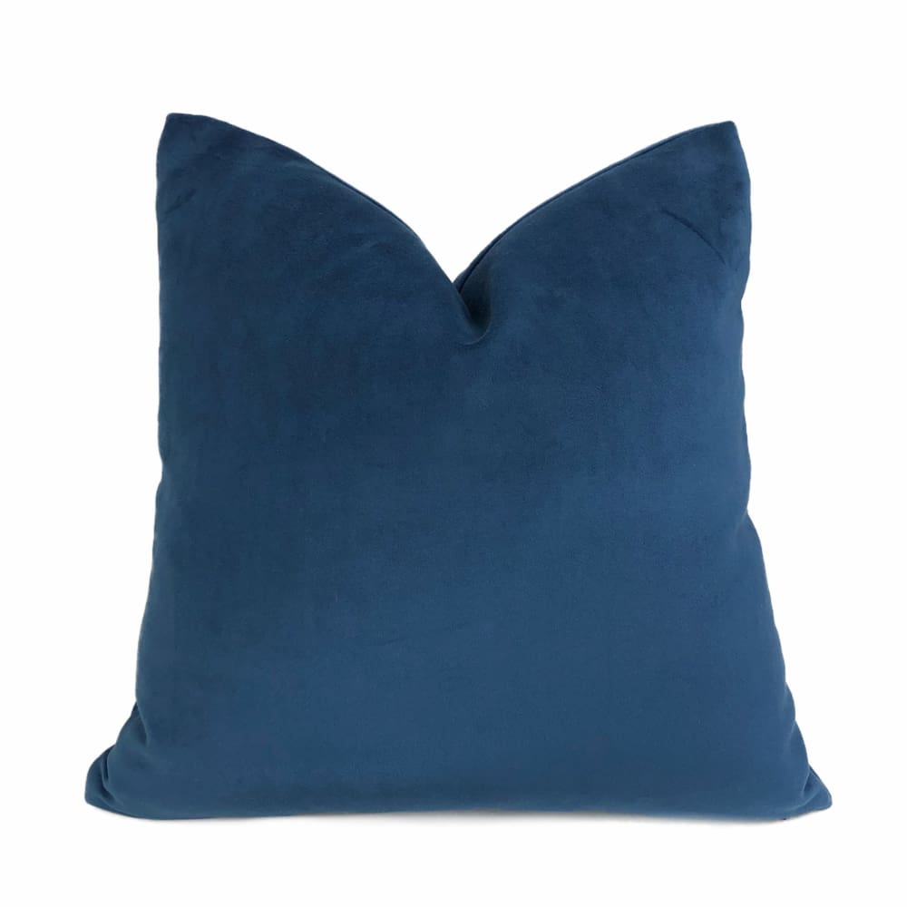 Ocean Blue Brooklyn Velvet Pillow Cushion Cover - Aloriam